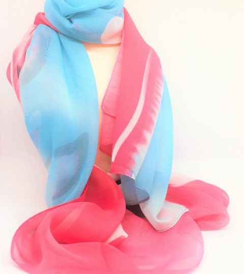Berry Azure Scarf